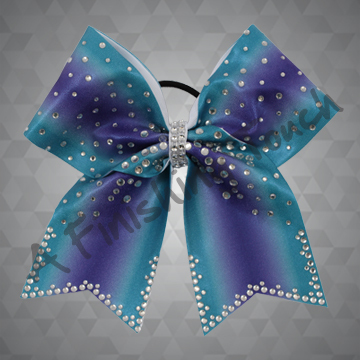 1290- Ombre Bow with Classic Rhinestones
