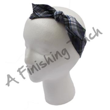 SU-H104 - Plaid Bowtie Headband