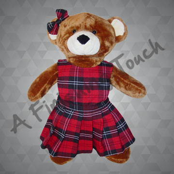 FT288- Pinafore Bear Jumper and Bow
