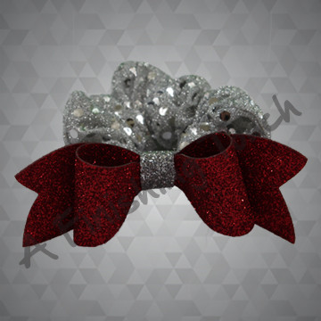 1309- Sequin Dot Scrunchie Headband with Glitter Bow