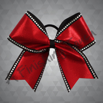 1320- Two Layer Bow with Classic Rhinestones