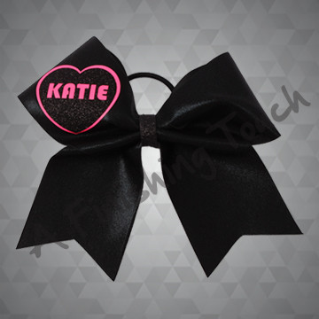 1347- Glitz Bow with Classic Eco/Glitter Heart and Name