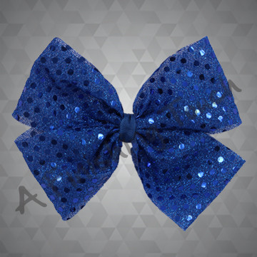 1323- Sequin Dot Quad Bow