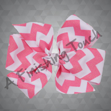 1327- Glitter Chevron Bow