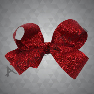 1334- Medium Four Loop Glitter Bow with Glitter Wrap