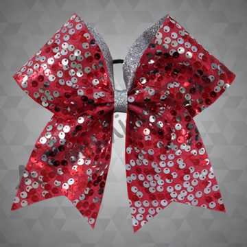 1349- Flapper Mesh Bow with Glitter Backing