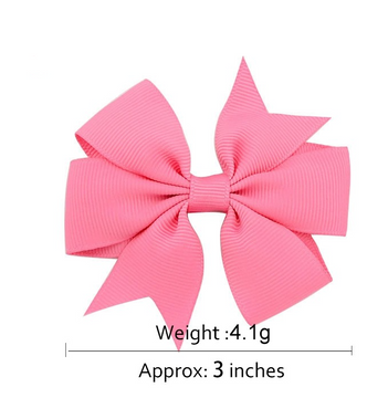 "1564 - 3"" Pinwheel Bow on Clip"