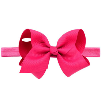 "1608- 4"" Fluffy Bow Headband"