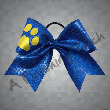162- Large Basic Cheer Bow with Short Tails / Glitter Shape