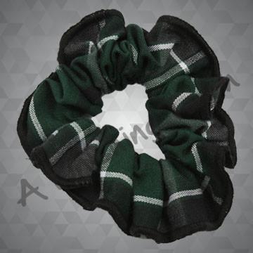 212- Plaid or Solid Scrunchie w/Trim