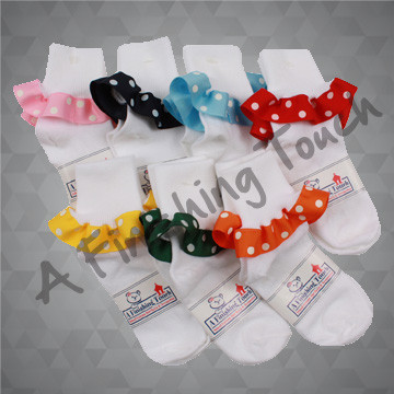 217R- Socks w/ Ribbon