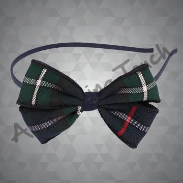 218- Small Headband w/Plaid Bow
