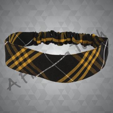 221- Plaid or Solid Fabric Headband w/Elastic in Back