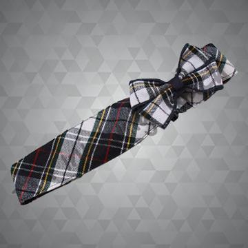 255 - Soft Plaid Headband w/Bow