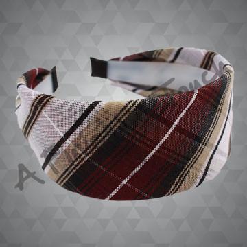 273- Plaid or Solid Fabric on Hard Headband