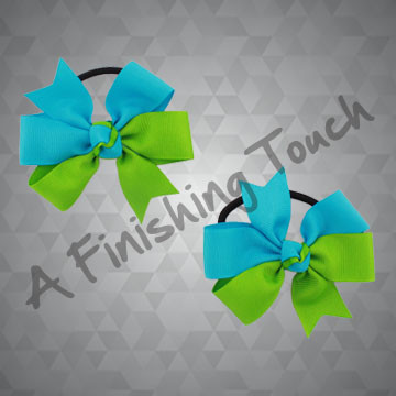 330PT- Two-Tone Cartwheel Pigtail Bows