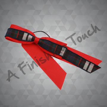 367- Two-Layer Plaid/Ribbon Streamer w/Bow