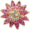 Daisy earrings, 18K and pink, yellow, orange or white sapphires