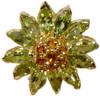Daisy clip enhancer for pearls or cords.  18K and semi precious stones.