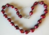Baroque pearl necklace- Cranberry
