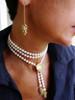 Bowl of Diamonds Necklace or pearl enhancer-large-14K gold