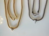 Snake Chains with sliding pendant holder- silver tone metal