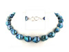 Baroque pearl necklace- Teal