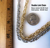 Double Linked Chain by the foot- Silver Tone