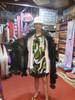 Pashmina from Oman. Fur Collar and Pom Pom Trim-Creamy Taupe