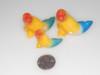 Carved Rainbow Stone- Angle Fish Couple - Mexico
