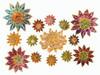 Daisy earrings, 18K and semi precious stones