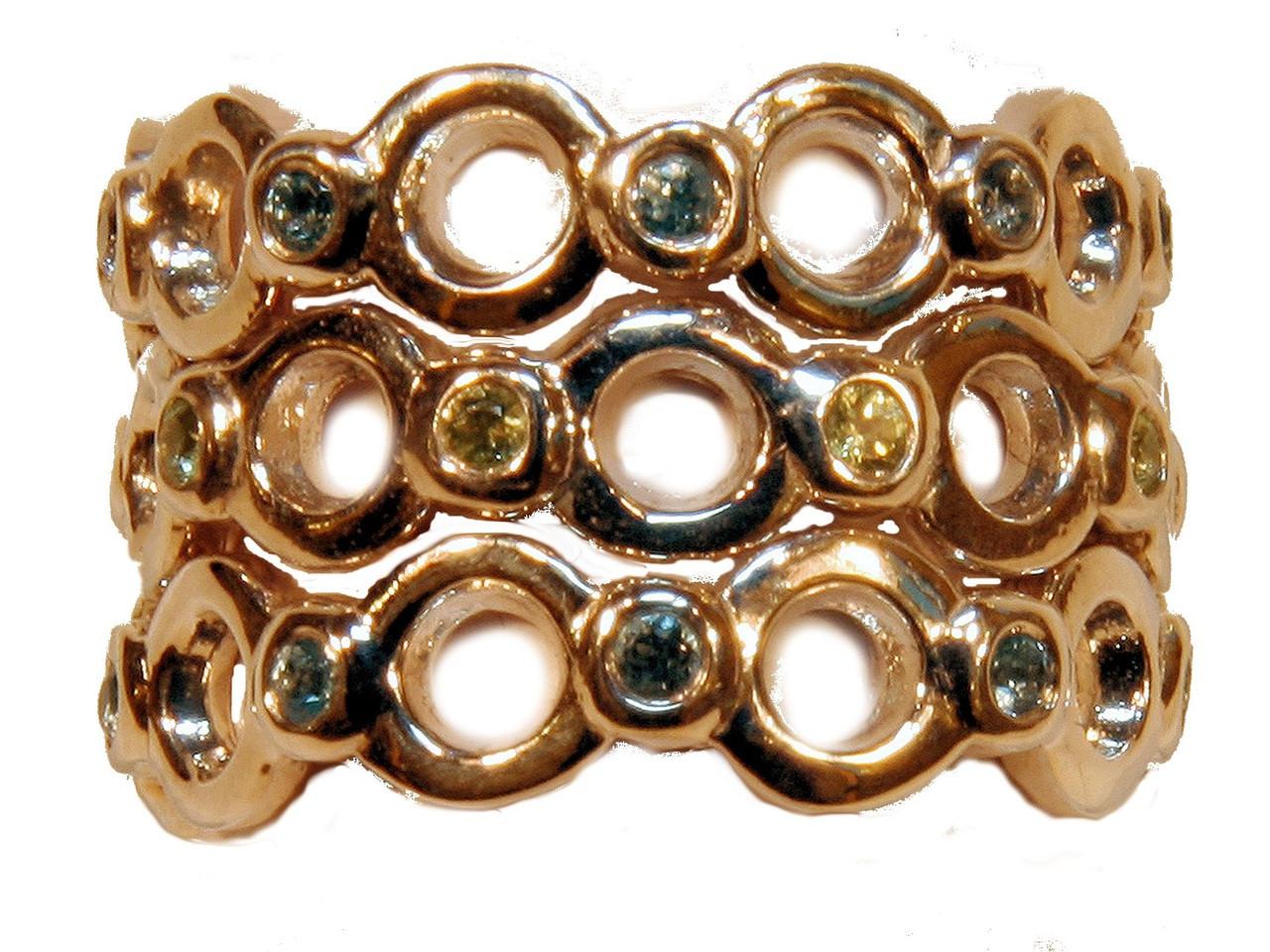 Circle Dot Stacking Ring - 18K  shown with semi precious