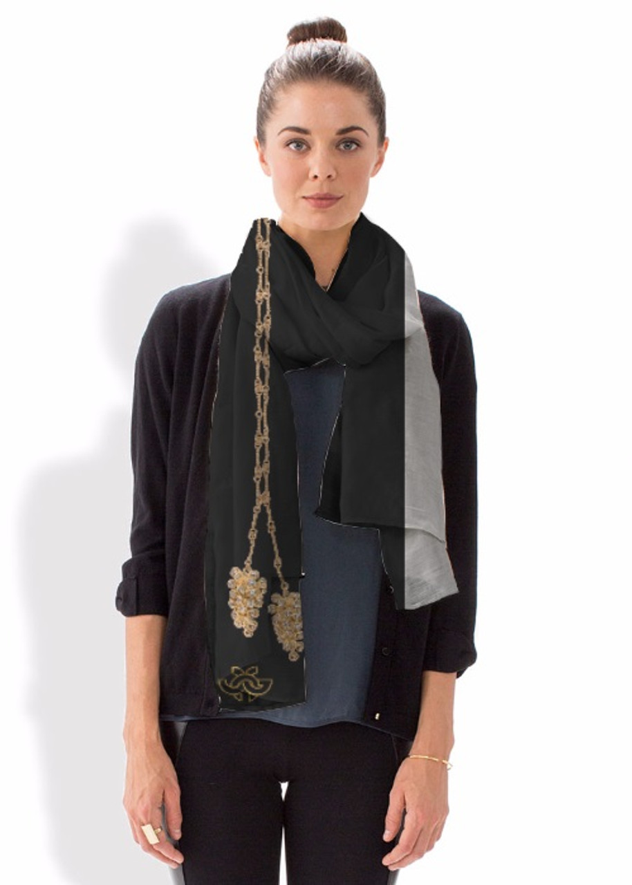 Modal Scarf. Art meets Fashion. Grapes, the Good Life