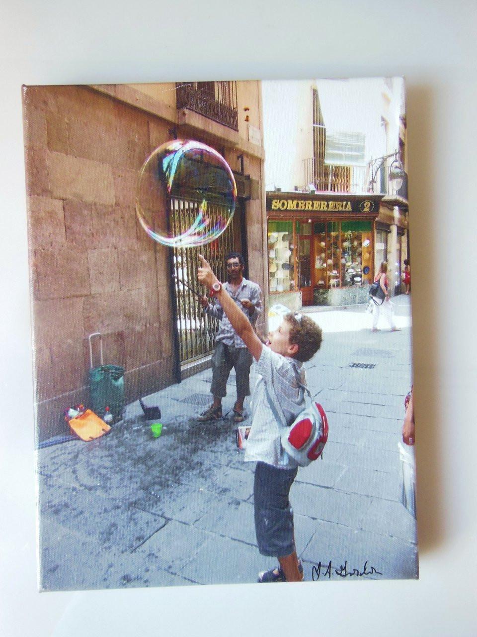 Barcelona Bubbles.  Giclee