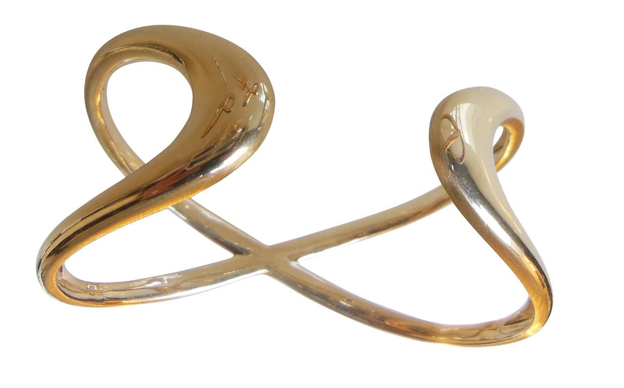 Infinity Cuff Bracelet- 18K gold