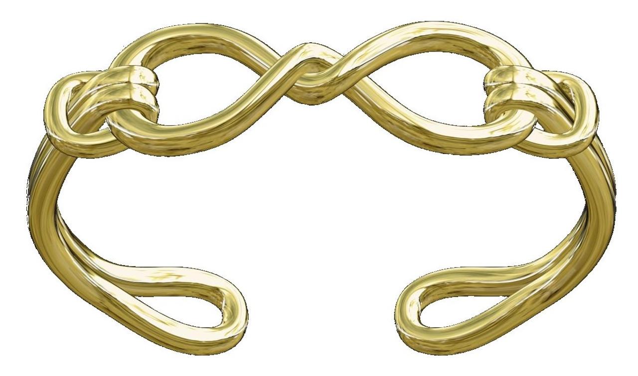 Infinity Knot Cuff Bracelet- 14K Gold