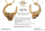 """LUCKY YOU""  Head Games for a Better World.   Equestrian Jewelry with Life Messages."