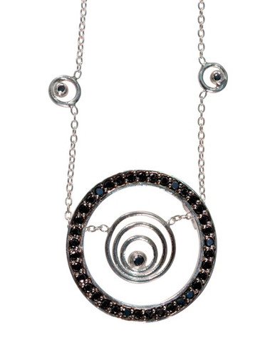 Karma hoop necklace- large