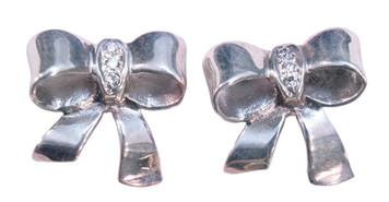 Bow Earrings-Sterling Silver
