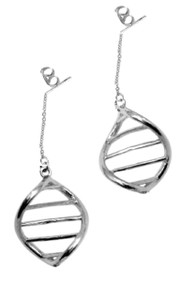 DNA Link- Earrings-Sterling with plate options