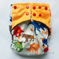 Willow & Sage Bamboo Charcoal Cloth Diaper - Dino