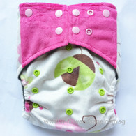 Willow & Sage Bamboo Charcoal Cloth Diaper - Ladybug