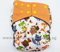 Bamboo Charcoal Cloth Diaper - Woodsy Critters
