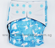 Bamboo Charcoal Cloth Diaper - Doves
