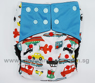 Bamboo Charcoal Cloth Diaper - Zoom Zoom