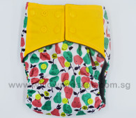 Bamboo Charcoal Cloth Diaper - Apples & Pears