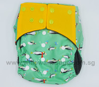 Bamboo Charcoal Cloth Diaper - Penguin Frenzy