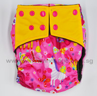 Bamboo Charcoal Cloth Diaper - Girl Power