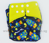 Bamboo Charcoal Cloth Diaper -To The Moon