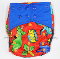 Bamboo Charcoal Cloth Diaper -Dino